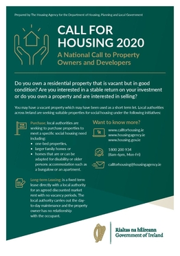 Call for Housing flyer 2
