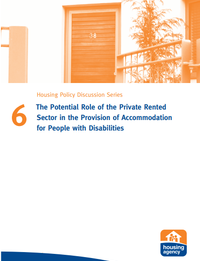 The Potential Role of the Private Rented Sector in the Provision of Accommodation for Pepope with Disabilities