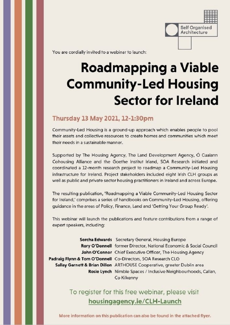 Launch of 'Roadmapping a Viable Community-Led Housing Sector in Ireland' 13 May 2021