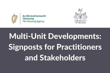 Multi-Unit Developments - Signposts for Practitioners and Stakeholders