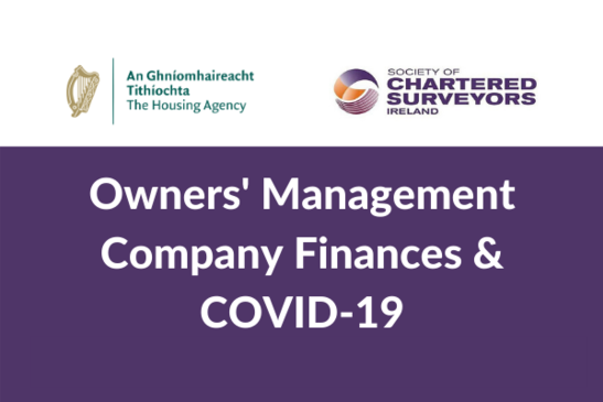 Watch: Owners' Management Company Finances & COVID-19