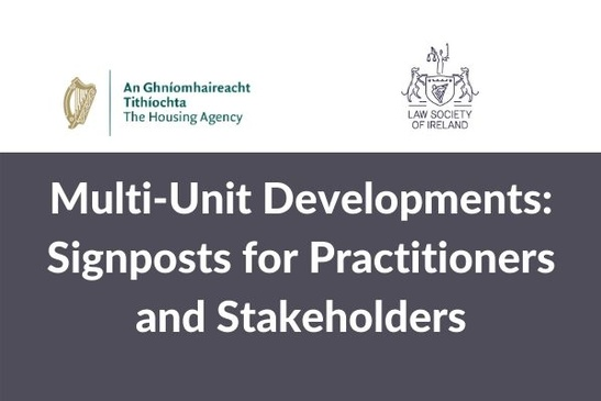 Watch: Multi-Unit Developments - Signposts for Practitioners & Stakeholders