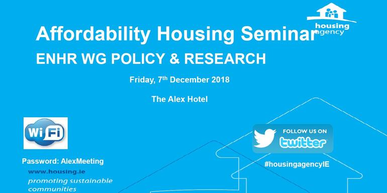 The Housing Agency hosted European experts at the 'Affordable Housing Seminar'